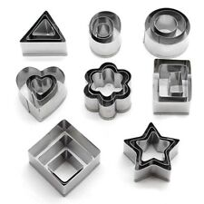 24PCS Steel Heart Shape Star Flower Shape Cookies Cutter Biscuit Slicer