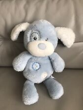 More details for chad baby patch valley puppy dog toy blue plush 11.5