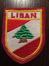 Patch toppa CM8X6 scudetto in stoffa ricamato LIBAN LIBANO