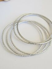 silver Tone thin style bangles Fashion Jewellery Bracelet small bundle of
