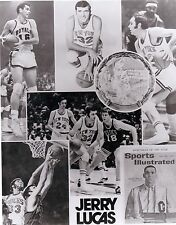 VINTAGE PHOTO OF JERRY LUCAS  AND HIS MEMORY BOOK.