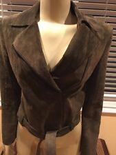 BCBG MAXAZRIA COLLECTION LEATHER BROWN WOMEN JACKET, Size 6