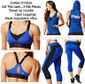 ZUMBA Mesh Adjustable VBra Top + Capri Leggings+Tassel Up Hoodie Jacket~3Pc.Set!