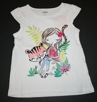 New Gymboree White Tiger Swing Top Tee Shirt NWT Size 2T 3T 4T Jungle Brights