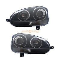 HEADLIGHTS VW GOLF MK5 2003-2008 PROJECTOR BLACK R32 STYLE H7/H7 RHD