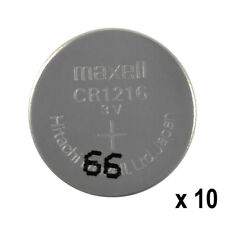 10 x Maxell Lithium CR1216 batteries 3V Coin Cell DL1216 KRC1216 Watches