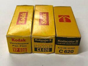 F02_011a 3 Rolls 620 Film Kodak VP Pan, Kodaacolor CX, Kodacolor II