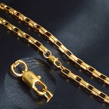"STAMPED REAL18K GOLD FILLED MENS/UNISEX  CHAIN NECKLACE 20"" 6 MM GF60 A"