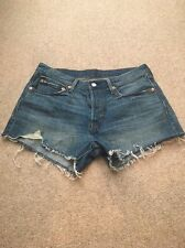 Adorable Levi's Cut Off 501 Button Fly Shorts NWOT Size 30