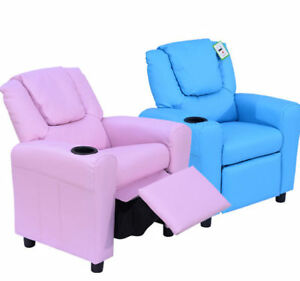 HOMCOM Kids Recliner Armchair Games Chair Children Seat Girls Boys Sofa