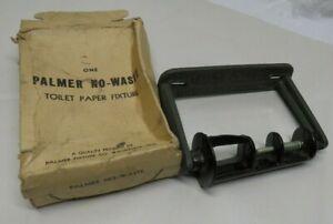 Antique Cast Iron Toilet Paper Holder Dispenser Palmer No Waste Waukesha WI