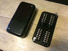 Bakelit Telefonverteiler / Fernmeldeverteiler für 12 DA aus der DDR , neuwertig