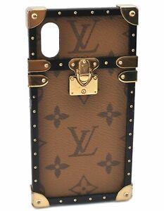 Auth Louis Vuitton Monogram Reverse Eye Trunk iPhone X XS Case M62619 LV D8896