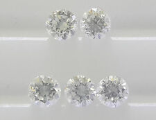 2mm 5pc 0.16cts Natural Loose Brilliant Cut Diamond VS2-SI1 Clarity G Color