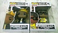 Funko Pop Rocks Notorious B.I.G W/Crown (77) & W/Jersey (78) Vinyl (2) Figures