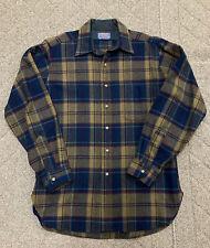 Vintage Pendleton Virgin Wool Flannel Shirt Men's Size Medium Made In USA