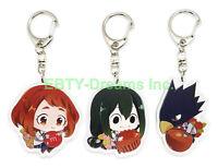 Set of 3 Naruto Anime Acrylic Keychain Konohamaru Sarutobi Moegi Udon Ise