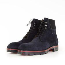 CHRISTIAN LOUBOUTIN 1550$ Calfskin Navy Blue Suede Citycroc Boots