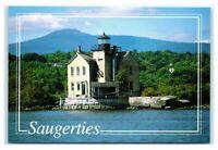 Postcard Hudson River - Lighthouse at Saugerties (Esopus Creek) NY M7