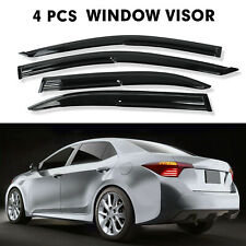 Fit 2003-2007 Toyota Corolla 3D Wavy Smoke Black Tinted Window Visors Vent Guard