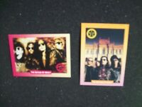 The SISTERS Of MERCY Rock Cards Set of (2) Goth Hard Rock 1991 New Old Stock