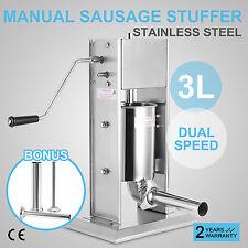 3L Commercial Sausage Filler Stuffer Vertical Stainlesss Steel Salami Make