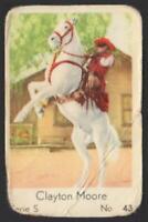 Clayton Moore - The Lone Ranger - 1957 Dutch Serie S Gum Card #43