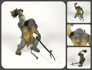 """Lord of the Rings FOTR   13"""" Moria Cave Troll Figure Actions & Sounds   NLP 2001"""