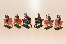 Vintage STARLUX Medieval Mounted Knights Plastic Toy Soldiers 1:32