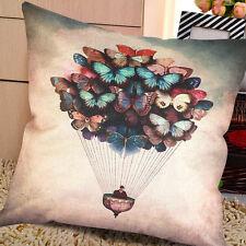 Vintage Retro Cotton Butterfly Balloon Sofa Throw Pillow Case Cushion Cov Gift