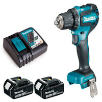 Makita DDF485Z 18v LXT Brushless 2-Speed Drill Driver 2 x 3Ah Batteries Charger