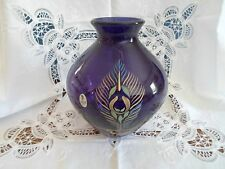 Fenton Aubergine Peacock Vase - Centennial Collection - Signed By Scott Fenton