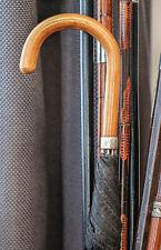 Antique Ben Cox Men's Umbrella With Hallmarked Silver Collar British England