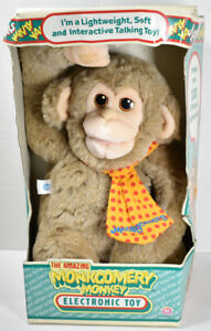 Vintage 1986 HASBRO SOFTIES MONKGOMERY MONKEY Hand Puppet INTERACTIVE TOY NEW
