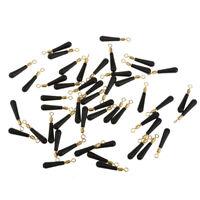 50pcs/set Rubber Floating Seat Fishing Tackle Tools Fishing Supplies Black