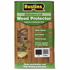 Rustins Quick Drying Advanced Wood Preserver Protector Black 5 Litre Low Odour