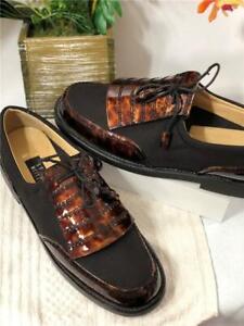 NWOB Stuart Weitzman Women's Brown Tortoise Kiltie Oxford Spikes Golf Shoes 9M