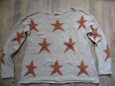 KONTATTO schöner Pullover beige m. Sternen EG TP KoS817