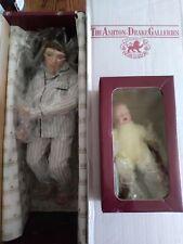 """Ashton Drake  -  """"2 A.M. FEEDING""""  -  porcelain dolls  w/COA  -  1992 / 93"""