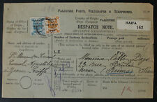 Palestine To France, 1926, London II, Parcel Card, Despach Note #a237