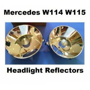 Mercedes Benz W114 W115 Headlight Reflectors Pair 2 pcs