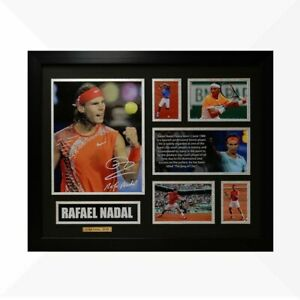 Rafael Nadal Signed & Framed Memorabilia - Black/Silver Limited Edition