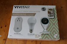 Vivitar Home Automation Essentials Kit, Wi-Fi Video Camera, Smart Bulb, Plug