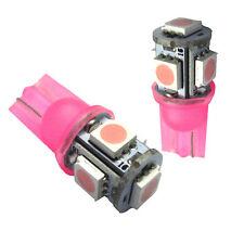 2 X T10 Pink LED Light Bulbs Number Plare Parkers FG BF BA AU EF EL EA Ranger