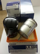 Audi TT 1.8 1.8T 1.8 Sport 1781cc Oil Air Fuel Filter Service Kit Genuine Mahle