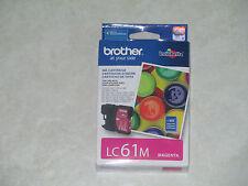 Genuine Brother LC 61 Innobella Magenta  Ink Cartridge. Exp: 2013. L@@K