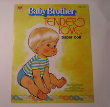 Baby Brother, Tender Love,  Paper Dolls, 1977, Whitman Softcover, Complete