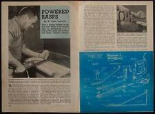 Power Rasp HowTo PLANS Convert Hedge Trimmer Sabre Saw