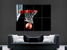 Basketball nba ball net giant poster print art image