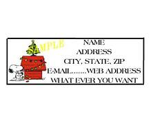 CHRISTMAS X-MAS SNOOPY ADDRESS LABELS COOL!! #20